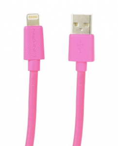 KABEL LIGHTNING - USB RÓŻOWY iPAD iPHONE MFI