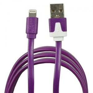 FIOLETOWY KABEL LIGHTNING-USB iPAD iPHONE MFI 0,9m